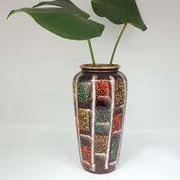 1950's BAY keramik マルチカラー×ブラウン フラワーベース/WK102