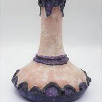1970's Marei keramik社製 パープル fat lava ベースBruggeシリーズ/WK056