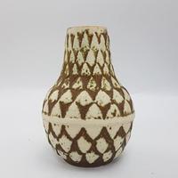 1960's Bay keramik社製 レリーフモチーフベース アーティチョークのような装飾/WK127