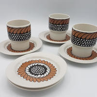 1960~70's Rosenthal studio line 花柄カップ&ソーサーとお皿2セット  WK011