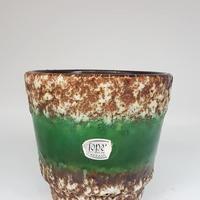 1960's Jasba製 fatlava植木鉢 green/WK109