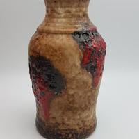 1960's~1970's 西ドイツBAY社製 fat lava花瓶 レッド   WK007