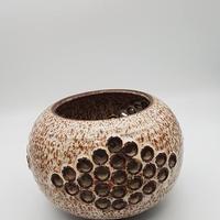 1970's デンマーク スタジオポッタリーWÜRTZ社製 ブラウン鉢カバー/WK166