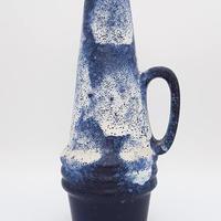 1960's~70's Scheurich社製 ブルー×ホワイト fat lava ジャグベース/WK156