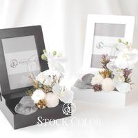 胡蝶蘭のフォトフレーム*プリザーブドフラワー*ウェディング 両親贈呈 ギフト 写真立て 仏花 仏壇花 お盆