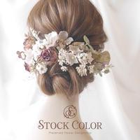 アンティークローズのヘッドドレス/ヘアアクセサリー*結婚式 ウェディング 成人式 卒業式 前撮り 髪飾り ヘッドドレス