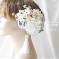 ダリアとコスモスのヘッドドレス/ヘアアクセサリー*結婚式・成人式・ウェディングドレスに
