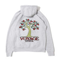 Voyage Pomegranate Hooded Sweatshirt <Heather Grey>