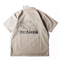 Stockroom x Naoya Koide Half Zip Work S/SL Shirt <Beige>