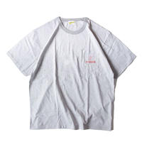 Stockroom x Naoya Koide Pin Striped S/SL Tee With Pocket <Grey x Red>