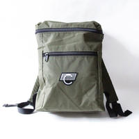 COMA BRAND BACKPACK <Foliage Green x White Logo>