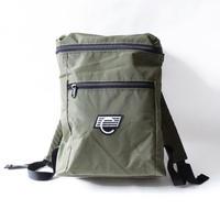 COMA BRAND BACKPACK <Foliage Green x White Logo>