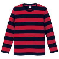 United Athle ボーダーロングスリーブTシャツ ブラック/レッド