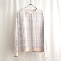 URU TOKYO / PLAID CREW NECK SHIRTS COL:L.GRAY