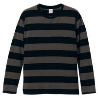 United Athle ボーダーロングスリーブTシャツ ブラック/チャコール