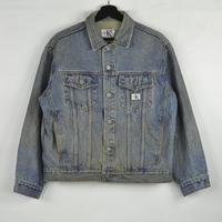 CALVIN KLEIN / DENIM JACKET(USED) COL:INDIGO NO.8