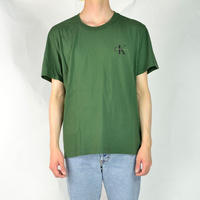 CALVIN KLEIN / S/S T-SHIRTS(USED) COL:GREEN
