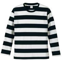 United Athle ボーダーロングスリーブTシャツ ブラック/ホワイト