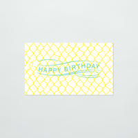 SAB LETTERPRESS MESSAGE CARD / HAPPY BIRTHDAY