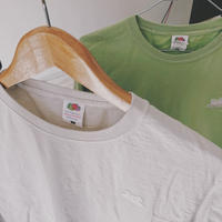 WAPPEN T-shirts GREEN / GRAY - PETROLZ【Dyed】