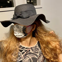 I SPARK  Mask(プリーツマスク) I-8  WHxonBKレース