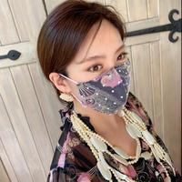 I SPARK  Mask(立体マスク) I-24   バタフライxonドットレース ブラック