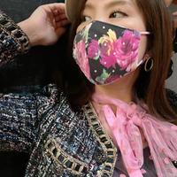 I SPARK  Mask(立体マスク) I-1  ピンク花xonドットレース