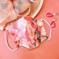 I SPARK 息がしやすい夏用 mask I- 26 ピンク花xonドットチュール