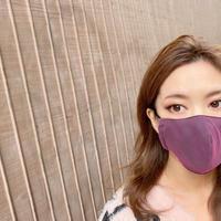 I SPARK  Mask (立体マスク) 無地ブラックxピンクチュール