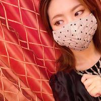 I SPARK  Mask(夏用マスク)  息がしやすいマスク onドットベージュ