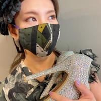 I SPARK  Mask(立体マスク) I-23  カーキxonドットレース