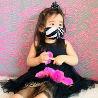 I SPARK・kids  Mask  (子ども用 立体マスク)K-16 ゼブラ×ドット