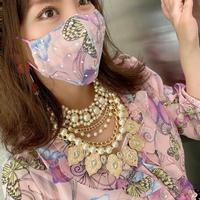 I SPARK  Mask(立体マスク) I-24   バタフライxonドットレース ピンク