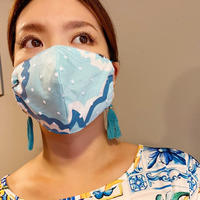 I SPARK 息がしやすい夏用 mask I- 29ターコイズxonドットチュール