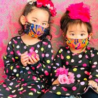 I SPARK・kids  Mask  (子ども用 立体マスク)K-3  ORダマスク/on BKフリル