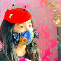 I SPARK・kids  Mask  (子ども用 立体マスク)K-5  パープル /ブラックフリル