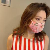 I SPARK  Mask(夏用マスク)  息がしやすいマスク ピンクバラレース