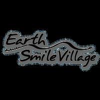 Earth-Smile Village ステッカー 抜き文字 BK