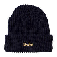 DOGEARR knit cap (Navy × Gold)