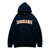 Dogear Records Hoodie  Navy (White × Orange)