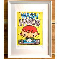 限定版画「WASH HANDS」