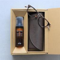 《敬老の日限定》GIFT BOX ~ 老眼鏡 COM-510A BNT(30-1  クロササ - ゴールド)✕ EYEWEAR WASH(メガネクリーナー)~