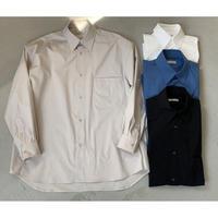 【Et baas OVER SIZE SHIRTS】オーバーサイズレギュラーカラーシャツ (全4種選択)