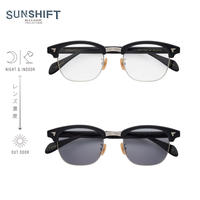 SUNSHIFT® / S-S88  1-2a ブラック-シルバー(SUNSHIFT®レンズクリア⇄グレー)