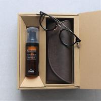 《敬老の日限定》GIFT BOX ~ 老眼鏡  COM-510A BNT(1-1 ブラック-ゴールド)✕ EYEWEAR WASH(メガネクリーナー)~