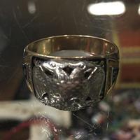 Vintage 10K Gold Masonic Scottish rite 32 Degrees Ring フリーメイソン スコティッシュライト リング  24号