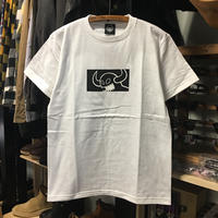 (トイマシーン)toy machine '19年春夏新作 SQUARE MONSTER  ボックスロゴ 半袖Tシャツ (TMS19ST21-WH)