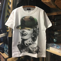 (ラルテ)RARETE マリリンモンロー 迷彩 キャップ 半袖 Tシャツ(SPEND/RUDE/スペンド/ルード風)