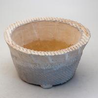 陶器製 多肉植物の欲しがる植木鉢 OZcd-9461ブルー