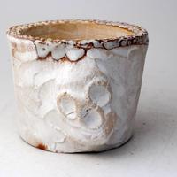 陶器製(3号ポット相当)多肉植物の欲しがる植木鉢 SSMdスカル-3015